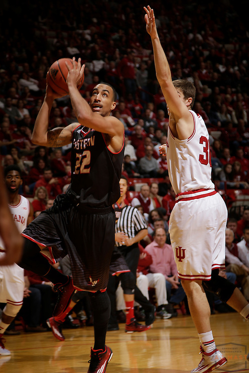 Eastern Washington guard Drew Brandon (22) as Eastern Washington played Indiana in an NCAA college basketball game in Bloomington, Ind., Monday, Nov. 24, 2014. (AJ Mast)