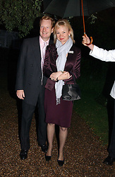 The EARL & COUNTESS OF DERBY at the annual Chelsea Flower Show dinner hosted by jewellers Cartier at the Chelsea Pysic Garden, London on 22nd May 2006.<br />