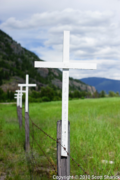 One of the many roadside memorials to those who have died along the roads of Montana. Missoula Photographer, Missoula Photographers, Montana Pictures, Montana Photos, Photos of Montana