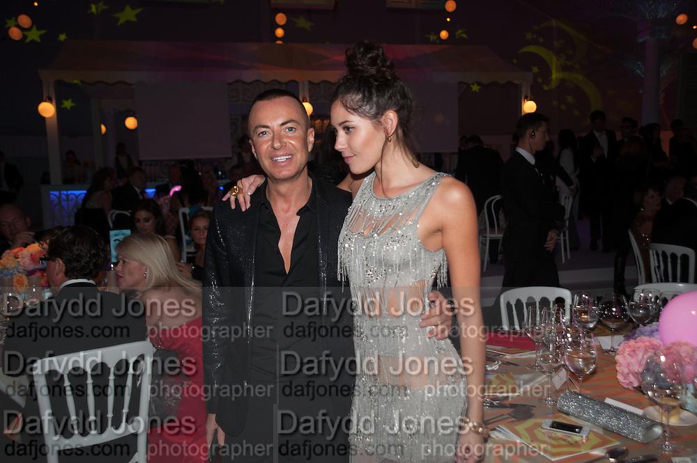JULIAN MACDONALD; ELIZA DOOLITTLE, Grey Goose Winter Ball to benefit the Elton John Aids Foundation. Battersea Power Station. London. 10 November 2012.