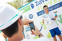 Kids Fest's Trophy ceremony during Day 9 of ATP Challenger Zavarovalnica Sava Slovenia Open 2018, on August 11, 2018 in Sports centre, Portoroz/Portorose, Slovenia. Photo by Vid Ponikvar / Sportida