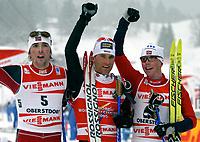 ◊Copyright:<br />GEPA pictures<br />◊Photographer:<br />Doris Hoefler<br />◊Name:<br />Ackermann<br />◊Rubric:<br />Sport<br />◊Type:<br />Ski nordisch, Langlauf<br />◊Event:<br />FIS Nordische Ski-Weltmeisterschaft, WM 2005, Nordische Kombination, Sprint<br />◊Site:<br />Oberstdorf, Deutschland<br />◊Date:<br />27/02/05<br />◊Description:<br />Magnus Moan (NOR), Ronny Ackermann (GER), Kristian Hammer (NOR)<br />◊Archive:<br />DCSHO-2702054899<br />◊RegDate:<br />27.02.2005<br />◊Note:<br />9 MB - MP/WU - Nutzungshinweis: Es gelten unsere Allgemeinen Geschaeftsbedingungen (AGB) bzw. Sondervereinbarungen in schriftlicher Form. Die AGB finden Sie auf www.GEPA-pictures.com.<br />Use of picture only according to written agreements or to our business terms as shown on our website www.GEPA-pictures.com.