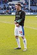 Queens Park Rangers forward Ryan Manning (14) warming up before the EFL Sky Bet Championship match between Queens Park Rangers and Swansea City at the Loftus Road Stadium, London, England on 13 April 2019.