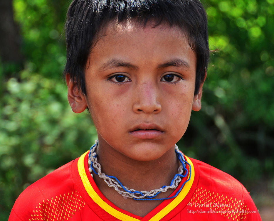 Guarani boy in Pirirenda, Gutierrez, Santa Cruz, Bolivia