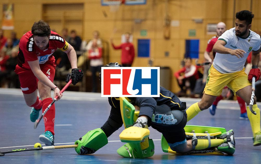 BERLIN - Indoor Hockey World Cup<br /> Kazakhstan - Poland<br /> foto: M&Uuml;LLER Patrick and CURTIS Richard (GK).<br /> WORLDSPORTPICS COPYRIGHT FRANK UIJLENBROEK