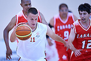 Dawid Rudewicz SO Poland athlete in action while basketball match SO Poland v SO Canada during second day of the Special Olympics World Games Los Angeles 2015 on July 26, 2015 on Galen Center at University of Southern California in Los Angeles, USA.<br /> USA, Los Angeles, July 26, 2015<br /> <br /> Picture also available in RAW (NEF) or TIFF format on special request.<br /> <br /> For editorial use only. Any commercial or promotional use requires permission.<br /> <br /> Adam Nurkiewicz declares that he has no rights to the image of people at the photographs of his authorship.<br /> <br /> Mandatory credit:<br /> Photo by &copy; Adam Nurkiewicz / Mediasport