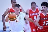 Dawid Rudewicz SO Poland athlete in action while basketball match SO Poland v SO Canada during second day of the Special Olympics World Games Los Angeles 2015 on July 26, 2015 on Galen Center at University of Southern California in Los Angeles, USA.<br /> USA, Los Angeles, July 26, 2015<br /> <br /> Picture also available in RAW (NEF) or TIFF format on special request.<br /> <br /> For editorial use only. Any commercial or promotional use requires permission.<br /> <br /> Adam Nurkiewicz declares that he has no rights to the image of people at the photographs of his authorship.<br /> <br /> Mandatory credit:<br /> Photo by © Adam Nurkiewicz / Mediasport