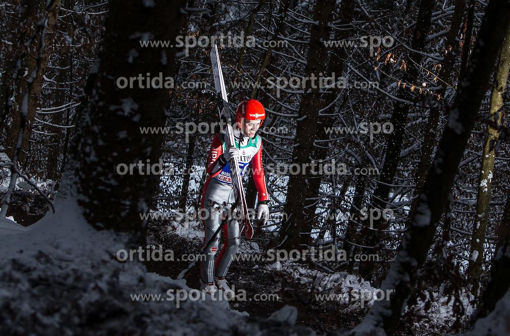 05.01.2015, Paul Ausserleitner Schanze, Bischofshofen, AUT, FIS Ski Sprung Weltcup, 63. Vierschanzentournee, Training, im Bild Stephan Leyhe (GER) // during Training of 63rd Four Hills <br /> Tournament of FIS Ski Jumping World Cup at the Paul Ausserleitner Schanze, Bischofshofen, Austria on 2015/01/05. EXPA Pictures &copy; 2015, PhotoCredit: EXPA/ JFK