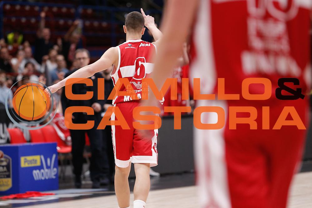 Giordano Bortolani<br /> EA7 Olimpia Milano - The Flexx Pistoia<br /> Legabasket Serie A 2017/18<br /> Milano, 06/05/2018<br /> Foto MarcoBrondi / Ciamillo-Castoria