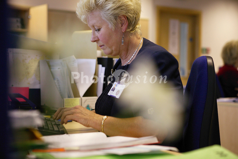 Woman working in the offices at NHS Octavia House,