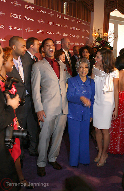 Will Smith, Ruby Dee and Jurnee Smollett at The Essence Magazine Celebrates Black Women in Hollywood Luncheon Honoring Ruby Dee, Jada Pickett Smith, Susan De Passe & Jurnee Smollett at the Beverly Hills Hotel on February 21, 2008 in Beverly Hills, CA