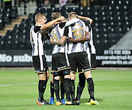 Jon Stead of Notts County scores a penalty and celebrates with his team mates during the Sky Bet League 2 match at Meadow Lane, Nottingham<br /> Picture by James Wilson/Focus Images Ltd 07522 978714‬‬<br /> 25/08/2017