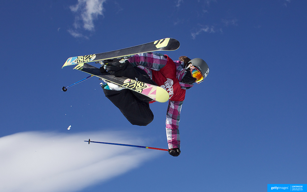 Rose Battersby, New Zealand, in action during her fifth place finish in the Women's Halfpipe Finals during The North Face Freeski Open at Snow Park, Wanaka, New Zealand, 3rd September 2011. Photo Tim Clayton......