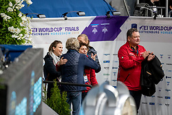 WINTER-SCHULZE Madeleine (Pferdebesitzer), KOENLE Marc (Mannschaftstierarzt), THEODORESCU Monica (Bundestrainer Dressur GER),<br /> Göteborg - Gothenburg Horse Show 2019 <br /> FEI Dressage World Cup™ Final I<br /> Int. dressage competition - Grand Prix de Dressage<br /> Longines FEI Jumping World Cup™ Final and FEI Dressage World Cup™ Final<br /> 05. April 2019<br /> © www.sportfotos-lafrentz.de/Stefan Lafrentz