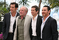 Actor Clive Owen, James Caan, and Director Guillaume Canet, Billy Crudup.at the Blood Ties film photocall at the Cannes Film Festival Monday 20th May 2013