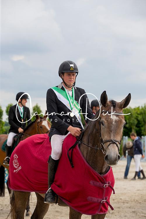 Verheyen Jelle, (BEL), Lou van 't Geboekt<br /> Nationale finale SBB competitie voor jonge paarden <br />  5 jarigen springpaarden - Moorsele 2016<br /> &copy; Hippo Foto - Dirk Caremans<br /> 26/06/16