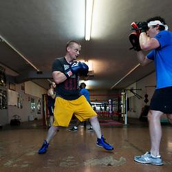Boxing gym training, Sweet Z's Gym, Kansas City, KS.