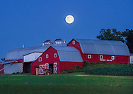 A Buck Moon rises over the Humphrey's Farm, Jul 19, 2016 in New Hartford, N.Y.