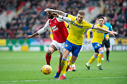 January 26, 2019 - Rotherham, England, United Kingdom - Semi Ajayi of Rotherham United  and Liam Cooper of Leeds United  battle during the Sky Bet Championship match between Rotherham United and Leeds United at the New York Stadium, Rotherham, England, UK, on Saturday 26th January 2019. (Credit Image: © Mark Fletcher/NurPhoto via ZUMA Press)