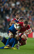 Milton Keynes, Great Britain, Aaron CARPENTER, running with the ball, during the Pool D Game, France vs Canada.  2015 Rugby World Cup, Venue, StadiumMK, Milton Keynes, ENGLAND.  Thursday  01/10/2015<br /> Mandatory Credit; Peter Spurrier/Intersport-images]