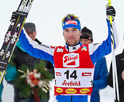 19.12.2011, Casino Arena, Seefeld, AUT, FIS Nordische Kombination, Langauf 10 km, im Bild Alessandro Pittin (ITA, 2. Platz) // Alessandro Pittin of Italy second place during the cross-country skiing 10 km at FIS Nordic Combined World Cup in Sefeld, Austria on 20111211. EXPA Pictures © 2011, PhotoCredit: EXPA/ P.Rinderer