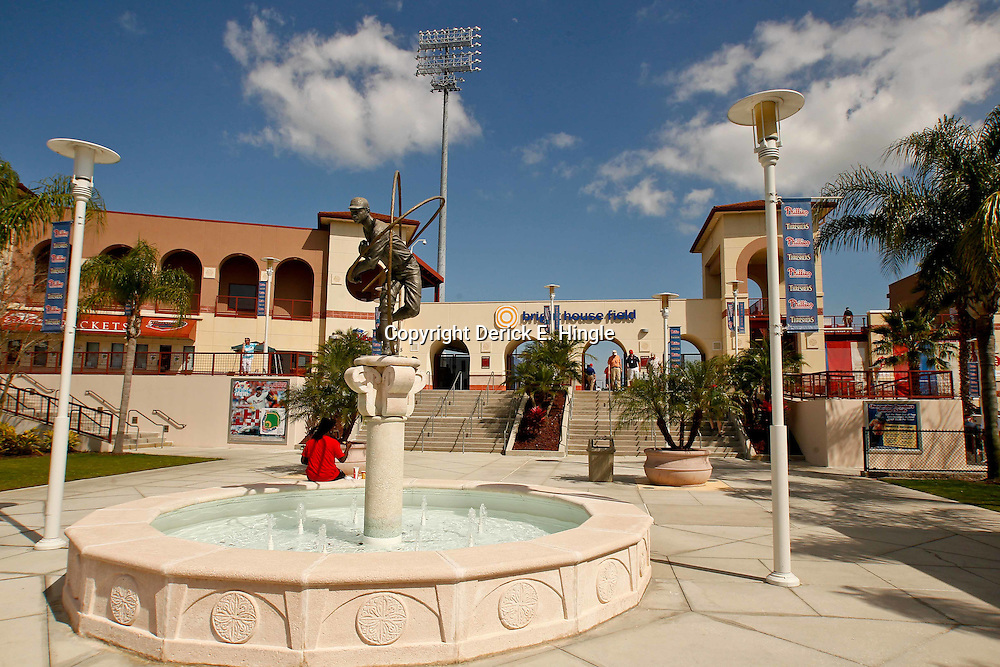 February 29, 2012; Clearwater, FL, USA; A general view during a spring training exhibition game between Philadelphia Phillies and Florida State University at Bright House Networks Field. The Phillies defeated Florida State 6-1. Mandatory Credit: Derick E. Hingle-US PRESSWIRE