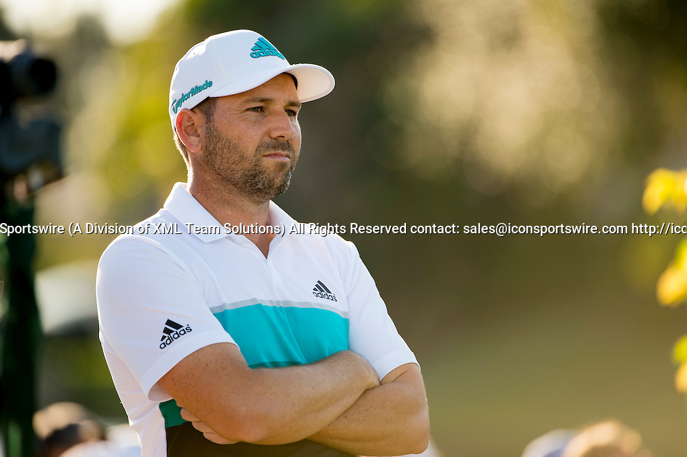 27 February 2016: Sergio Garcia during the third round of the Honda Classic at the PGA National Resort & Spa in Palm Beach Gardens, FL.