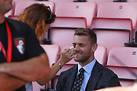Football - 2017 / 2018 Premier League - AFC Bournemouth vs. Manchester City<br /> <br /> Bournemouth's Simon Francis has some make up applied before going infant of the TV cameras at the Vitality Stadium (Dean Court) Bournemouth<br /> <br /> COLORSPORT/SHAUN BOGGUST