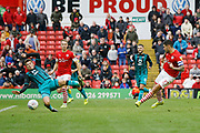 Goal scored by Alex Mowatt of Barnsley  during the EFL Sky Bet Championship match between Barnsley and Swansea City at Oakwell, Barnsley, England on 19 October 2019.