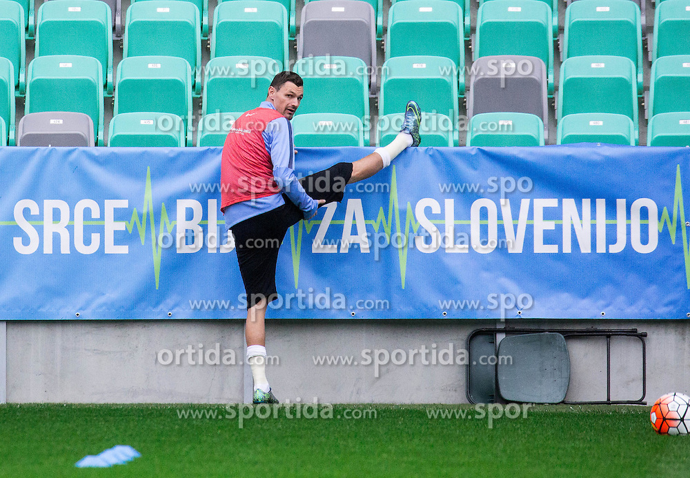 Milivoje Novakovic during practice session of Slovenian National Football team two days before Euro 2016 Qualifying game between Slovenia and Lithuania, on October 7, 2015 in SRC Stozice, Ljubljana Slovenia. Photo by Vid Ponikvar / Sportida