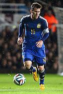 Lionel Messi of Argentina during the International Friendly match at the Boleyn Ground, London<br /> Picture by David Horn/Focus Images Ltd +44 7545 970036<br /> 12/11/2014