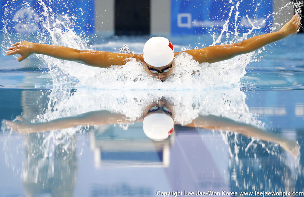 Vietnam's Nguyen Thi Anh Vien in action in women's 200m individual medley final  Swimming at the 28th Southeast Asian (SEA) Games in Singapore, June 7, 2015. Photo by Lee Jae-Won (SINGAPORE) www.leejaewonpix.com/
