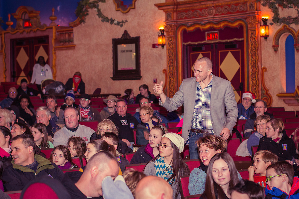 Jason Alan Magic performs in the Akron Civic Theatre at First Night Akron 2015