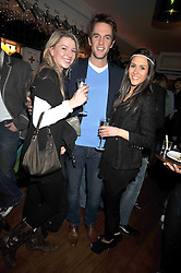 Left to right, DUNCAN STIRLING and Grace Rackham and Zoe Copsey at a party to celebrate the opening of Barts, Sloane Ave, London on 26th February 2009.