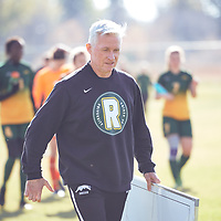 Women's Soccer Head Coach, Bob Maltman of the Regina Cougars during the Women's Soccer away game on Sat Oct 06 at Universtity of Saskatchewan . Credit: Arthur Ward/Arthur Images
