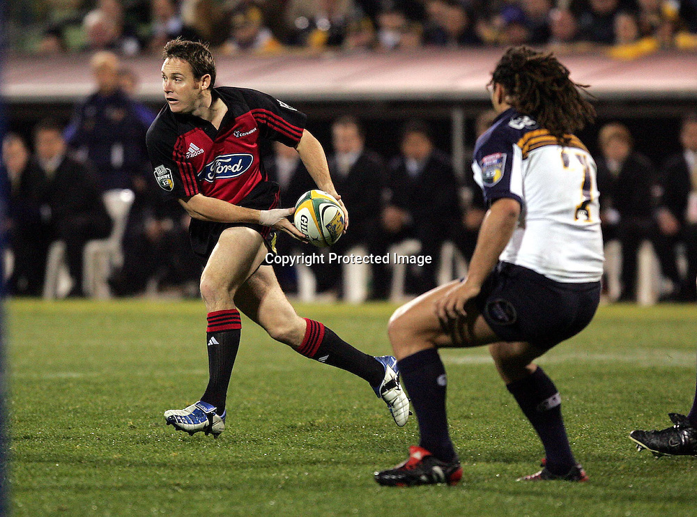 22 May, 2004. Super 12 Final, Canberra Stadium, Canberra ACT, Australia.<br /> Andrew Mehrtens.<br /> The Brumbies defeated the Crusaders  48-37<br /> Please credit: Andrew Cornaga/Photosport