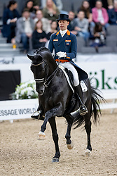 MINDERHOUD Hans Peter (NED), Glock's Dream Boy N.O.P.<br /> Göteborg - Gothenburg Horse Show 2019 <br /> FEI Dressage World Cup™ Final I<br /> Int. dressage competition - Grand Prix de Dressage<br /> Longines FEI Jumping World Cup™ Final and FEI Dressage World Cup™ Final<br /> 05. April 2019<br /> © www.sportfotos-lafrentz.de/Stefan Lafrentz