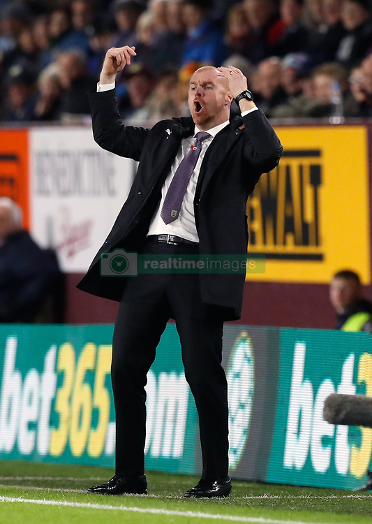 Burnley manager Sean Dyche reacts during the Premier League match at Turf Moor, Burnley.