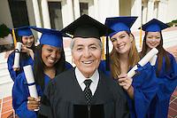 Graduates and Administrator