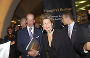 The Duke of Kent and Katalin Bogyay, Opening of Hungary's Heritage-Princely Treasures from the Esterhaxy Collection. The Gilbert collection. Somerset House. 25 October 2004. ONE TIME USE ONLY - DO NOT ARCHIVE  © Copyright Photograph by Dafydd Jones 66 Stockwell Park Rd. London SW9 0DA Tel 020 7733 0108 www.dafjones.com