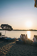 Beach club sunset, Montauk, East Hampton, NY