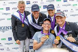 Team Deutschland<br /> Luhmühlen - LONGINES FEI Eventing European Championships 2019<br /> DIBOWSKI ANDREAS (GER), RÜDER Kai (GER), KLIMKE Ingrid (GER), JUNG Michael (GER), <br /> Siegerehrung Europameisterschaft Team Finale / Mannschaftsentscheidung<br /> 01. September 2019<br /> © www.sportfotos-lafrentz.de/Stefan Lafrentz