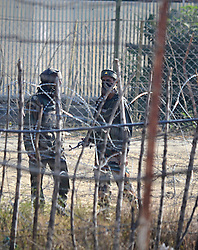 October 3, 2016 - India - Indian army soldiers are seen inside the army base which was attacked by suspected militants in north Kashmir's Baramulla. At least one Indian soldier was killed and another wounded in the attack, later suspected militants managed to escape from the spot of encounter, Kashmir police said. (Credit Image: © Faisal Khan/Pacific Press via ZUMA Wire)