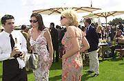 Minnie Driver and Mary McCormic. .     Cartier International Polo 2000. Smiths Lawn.  31/7/00<br />© Copyright Photograph by Dafydd Jones 66 Stockwell Park Rd. London SW9 0DA Tel 020 7733 0108 www.dafjones.com