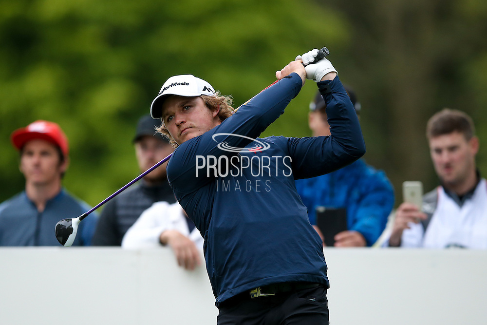 English golf professional Eddie Pepperell  during the BMW PGA Championship Celebrity Pro-Am Day at the Wentworth Club, Virginia Water, United Kingdom on 25 May 2016. Photo by Simon Davies.