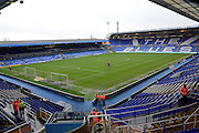 St Andrews pitch during the Sky Bet Championship match between Birmingham City and Brentford at St Andrews, Birmingham, England on 2 January 2016. Photo by Alan Franklin.