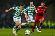 James Forrest (#49) of Celtic lines up a shot from distance during the Betfred Cup Final between Celtic and Aberdeen at Celtic Park, Glasgow, Scotland on 2 December 2018.