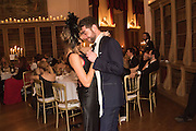 ELISSA GOLDSTONE; GEORGE HOWARD, Ball at to celebrateBlanche Howard's 21st and  George Howard's 30th  birthday. Dress code: Black Tie with a touch of Surrealism. Castle Howard. Yorkshire. 14 November 2015