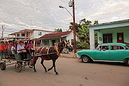 Street in Cumanayagua, Cienfuegos Province, Cuba.