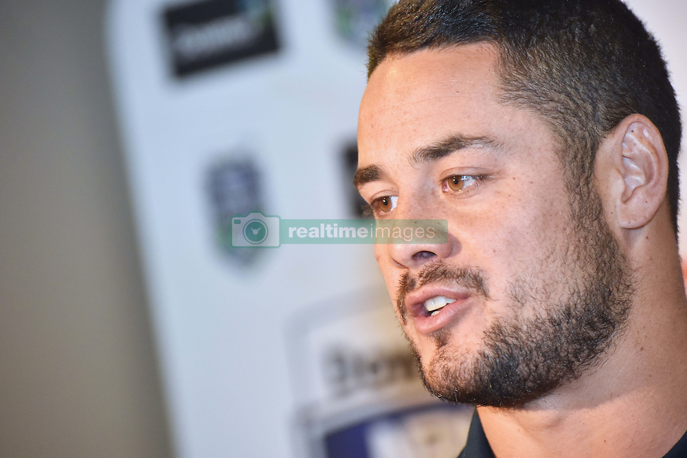 October 26, 2016 - Auckland, Auckland, New Zealand - Jarryd Hayne speaks to the media during  a media conference in Auckland, New Zealand.  Jarryd Hayne is a world class international NRL player.He is announcing he is playing the Downer NRL Auckland Nines next year. (Credit Image: © Shirley Kwok/Pacific Press via ZUMA Wire)
